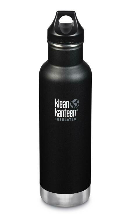 Klean Kanteen Classic drinkfles, loop cap 18oz/ 532ml, zwart