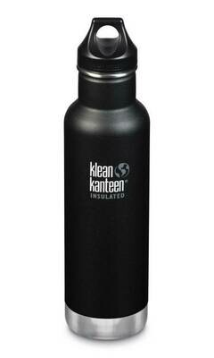 Klean Kanteen thermosfles, stalen beker en dop, 17oz/ 500ml, zwart