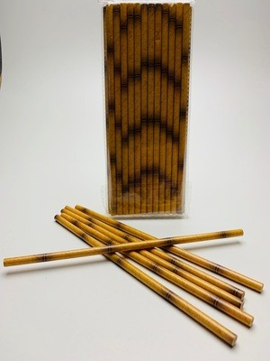 Papieren rietje natural bamboe look
