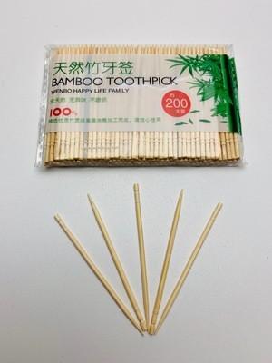 Bamboo tandenstokers, 200 stuks