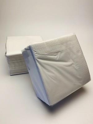 Servetten wit 2-laags 30x30cm. Verpakt per 100 stuks
