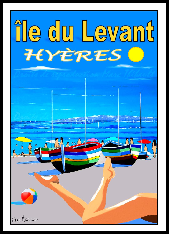 Détente sur la plage au Levant..Hyères...