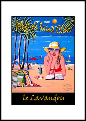 LE LAVANDOU- Sur la plage de Saint clair
