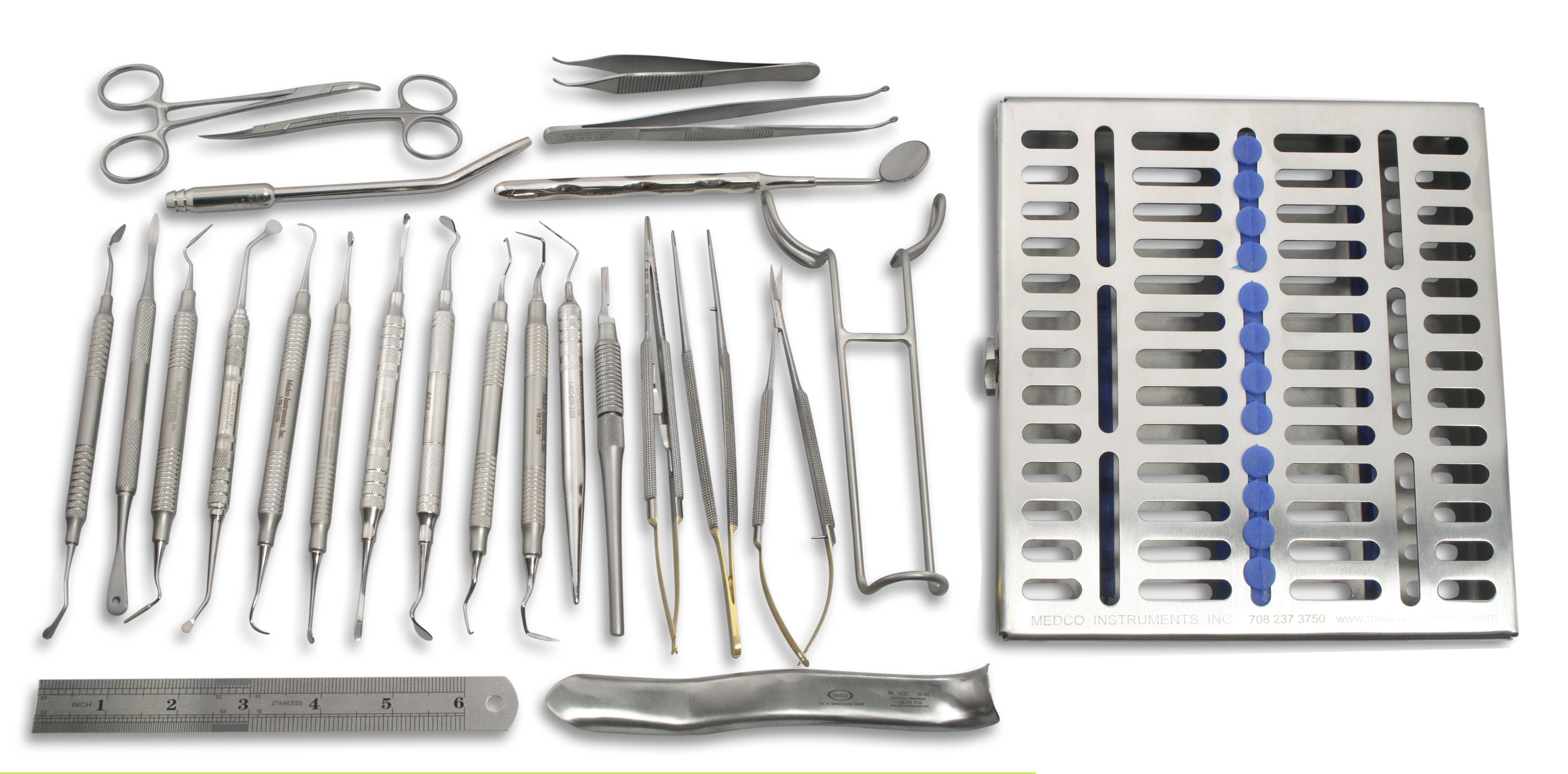 Gingival Grafting Kit, Set of 19 MLSTG19
