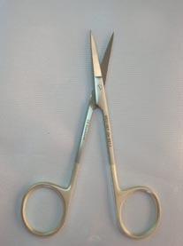 "IRIS Scissors 4½"" Super Cut 1 Blade Serrated Delicate Straight GN9217"