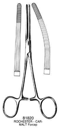 """ROCHESTER-CARMALT Forceps Straight 8"""" 81840"""