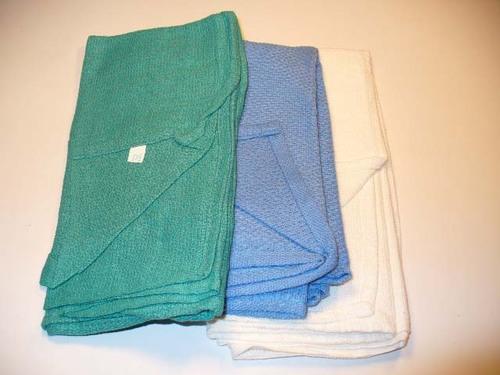 Green Non Sterile Dozen Towels Cotton 80-6500DZ