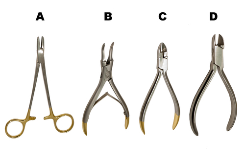 Orthodontic Pliers/Cutters Set of 4 ML316