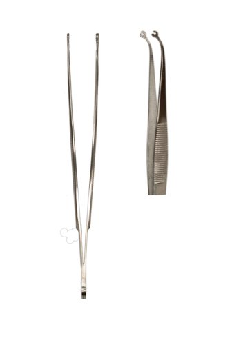 "Korn Suture 6"" Forceps CVD 1.5mm Perforated Holes ML2007"