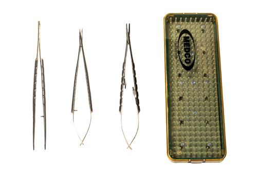 "Suture Set 7"" TC - Needle Holder, Scissors & Forceps & Case ML90B"