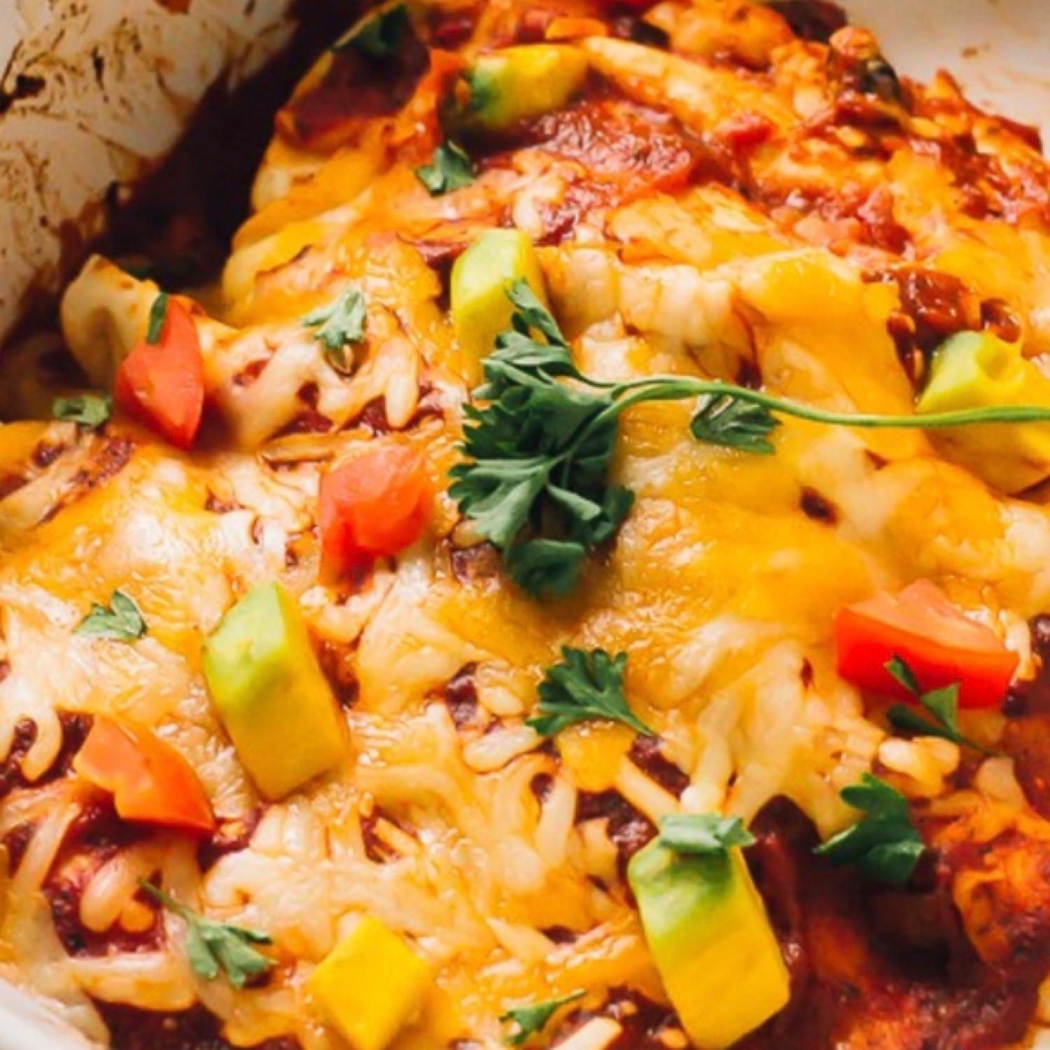 Black Bean Sweet Potato Enchilada Bake - GF