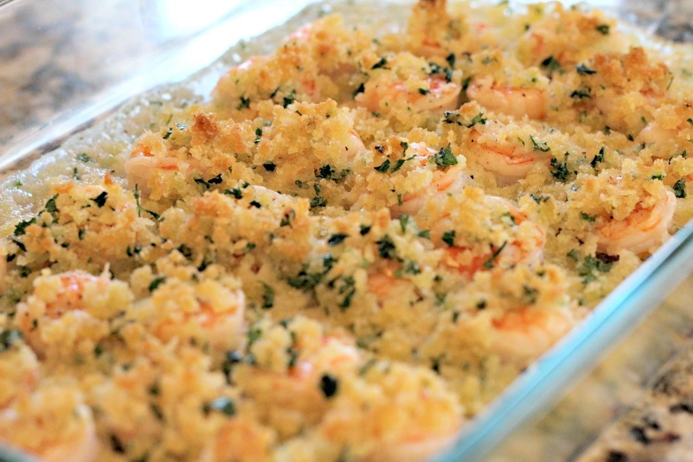 Crispy Baked Shrimp Scampi w/Linguine