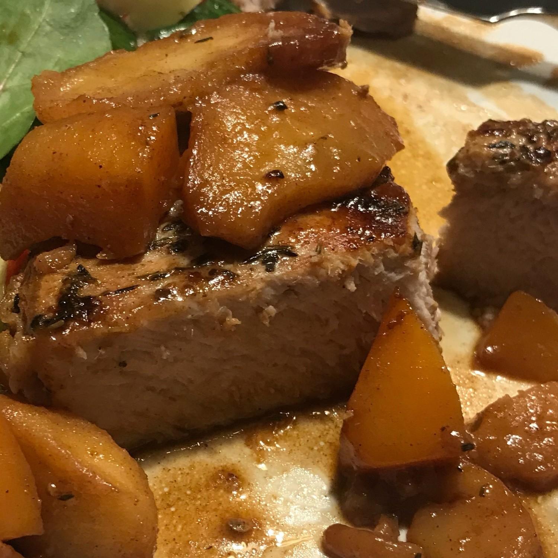 Pork Chops w/Cinnamon Apples & Butternut Squash - GF