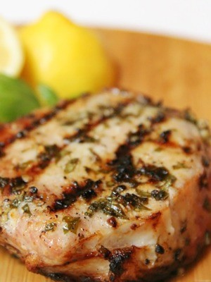 Lemon Basil Grilled Pork Chops - GF