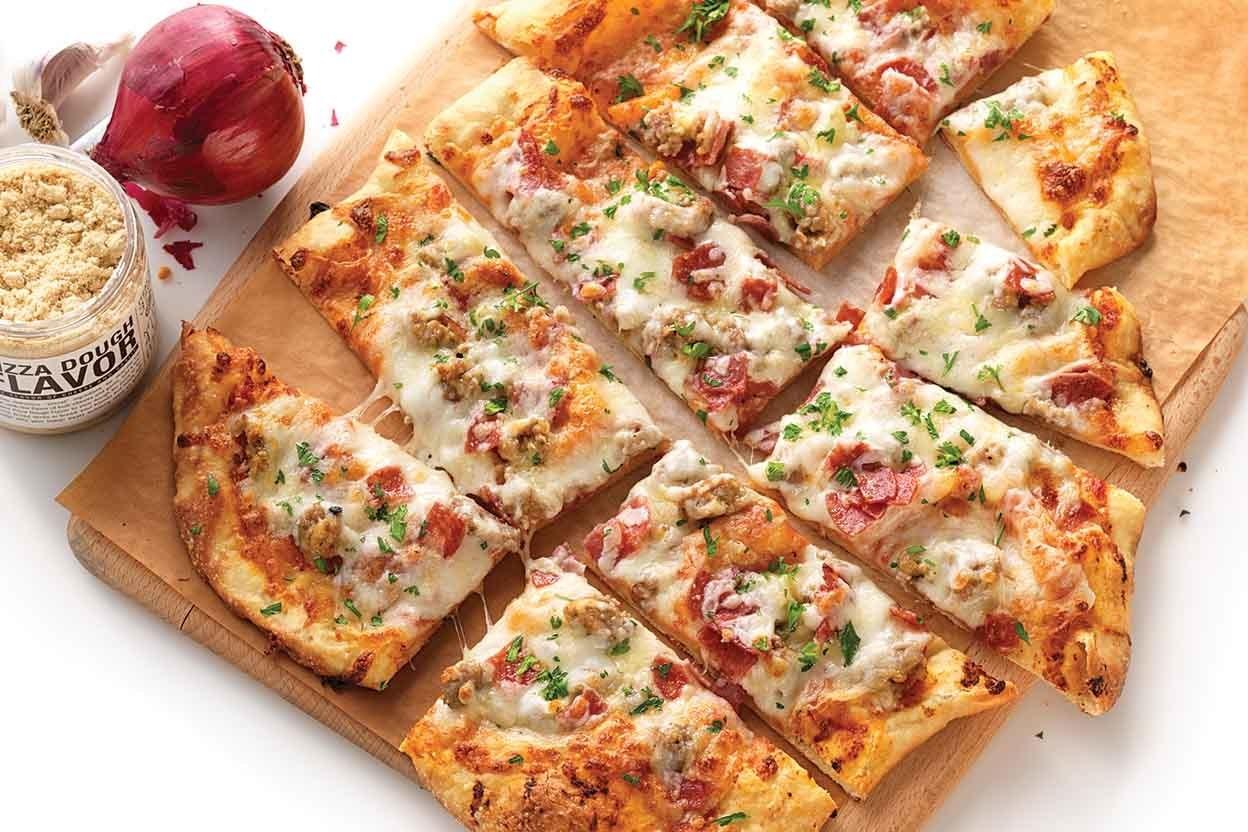 Meat Lovers Flatbread Pizza