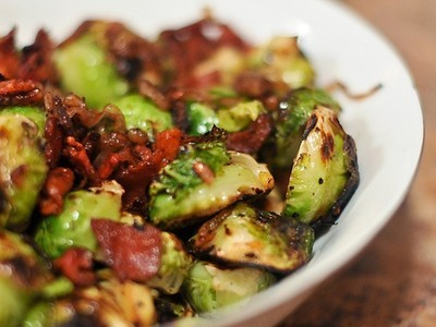 Roasted Brussels Sprouts w/Bacon - GF