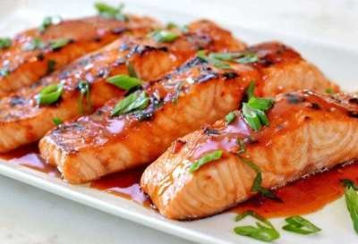 Thai Salmon w/Sweet Chili Glaze - GF