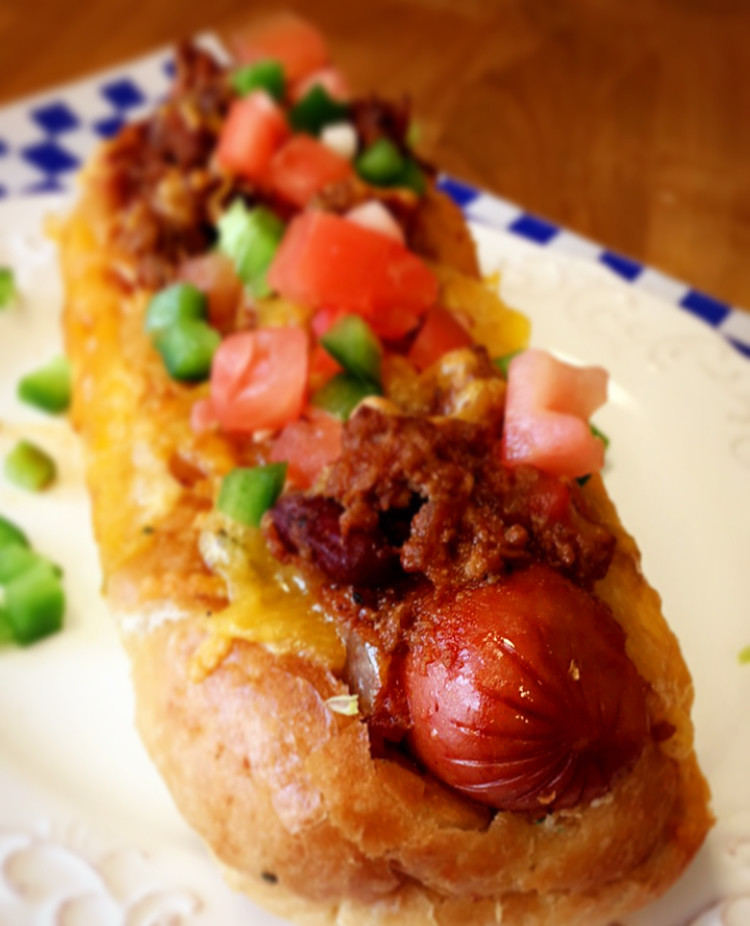 NOT YOUR AVERAGE STADIUM CHILI CHEESE DOG BOATS