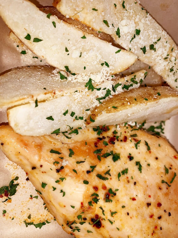 Honey Garlic Chicken w/ Parmesan Potato Wedges - (Individual)