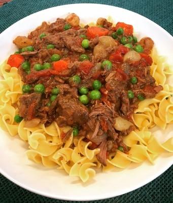 Slow Cooker Spring Beef & Vegetable Stew
