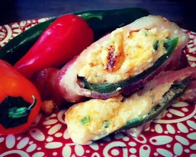 Bacon Wrapped Jalapeno Poppers - GF
