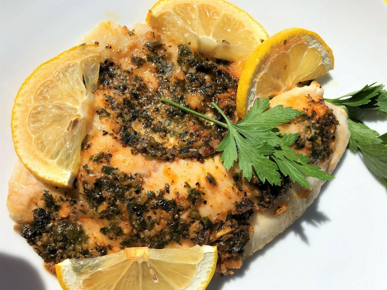 Spicy Lemon Garlic Baked Tilapia - GF