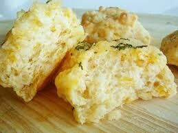 Cheddar Herb Biscuit with Bacon  Breakfast Sandwich