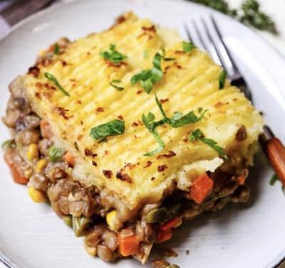 Vegetarian Shepherd's Pie w/Mashed Potato Topping - GF