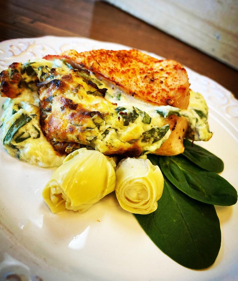 Spinach Artichoke Stuffed Chicken Breast - GF