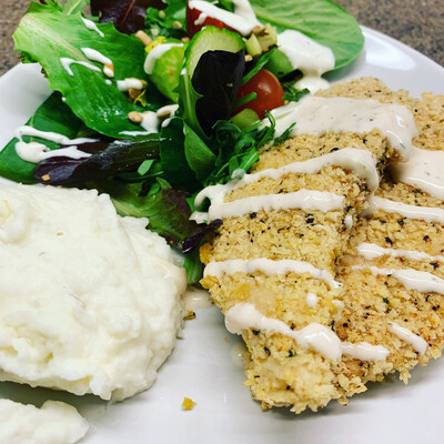 Black Pepper Ranch Chicken Tenders w/ Southwest Ranch Dressing