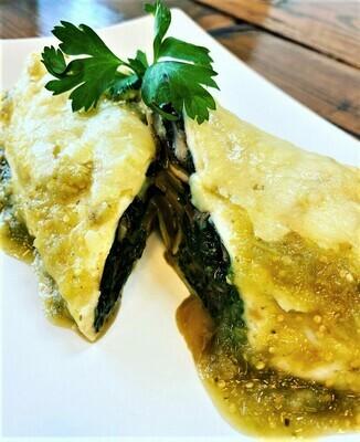 Spinach & Mushroom Enchiladas