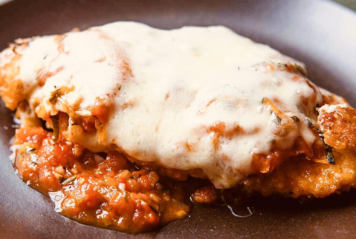 Gluten-Free Chicken Parmesan w/ Smoked Mozzarella
