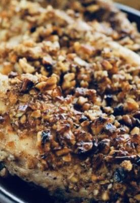 Gluten Free Pecan Crusted Chicken Breast