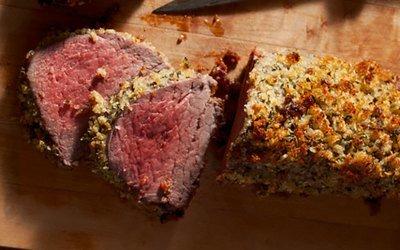 Parmesan-Herb Crusted Beef