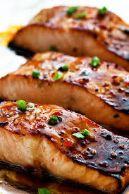 Thai Salmon w/ Sweet Chili Glaze - GF