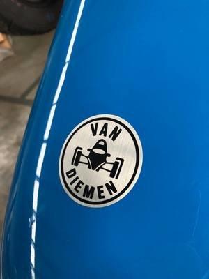 Van Diemen badge sticker