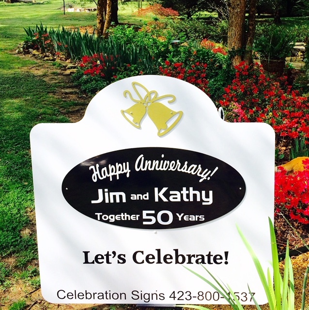 Anniversary Lawn Sign Rental 00007