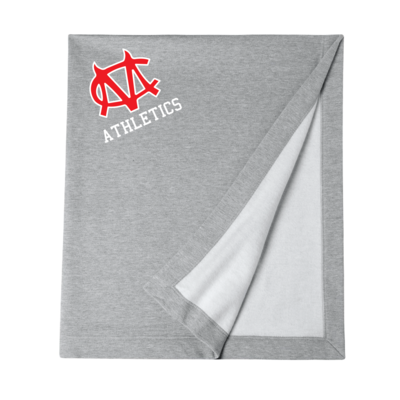 CM Logo Gildan DryBlend Stadium Blanket - Sport Gray