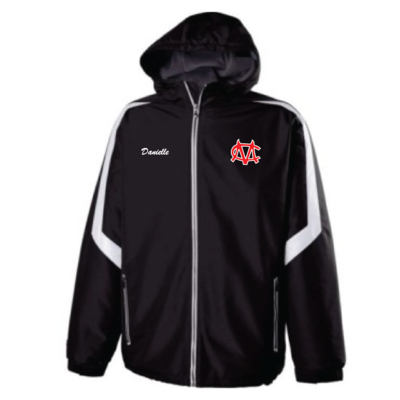 Embroidered CM Logo Holloway Charger Jacket - Black/White - Youth & Adult