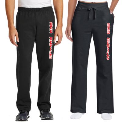 Red Devils Gildan Heavy Blend Open Bottom Sweatpant - Youth & Adult - Men's & Ladies