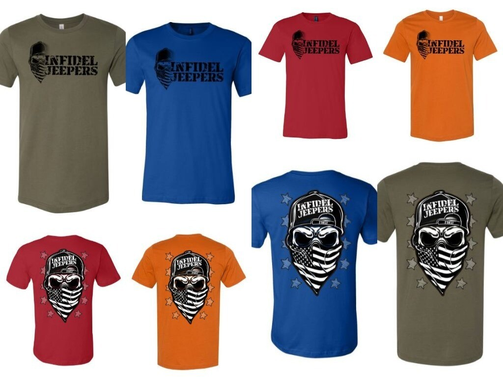 PREMIUM T-Shirt: Skull & Stars
