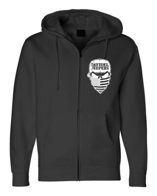 Premium Zippered Hoodie: Label Back
