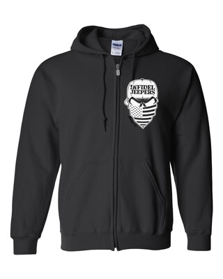 Standard Zippered Hoodie: Label Back