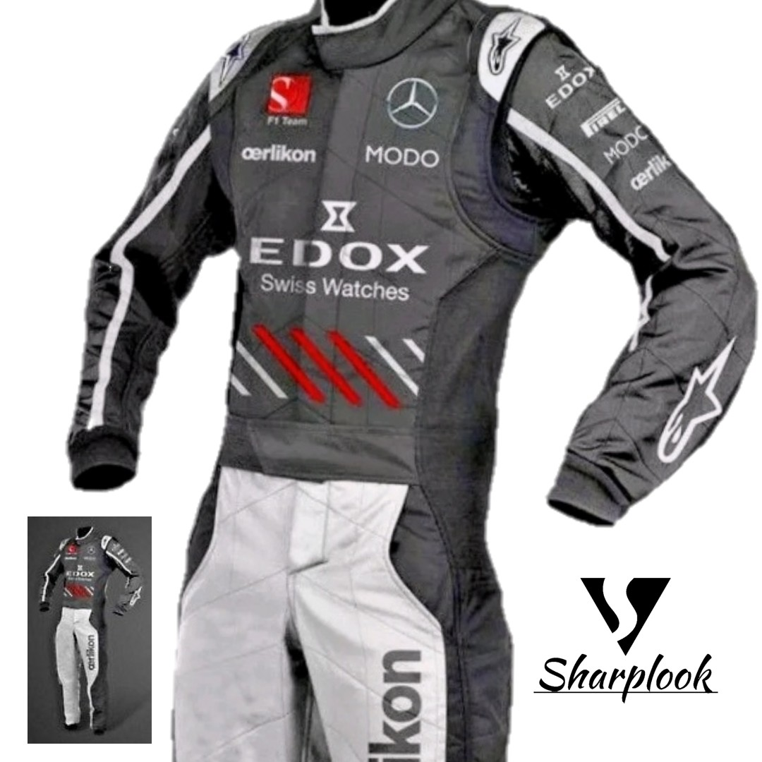 Mercedes Go Kart Racing Suit Sublimation Printed