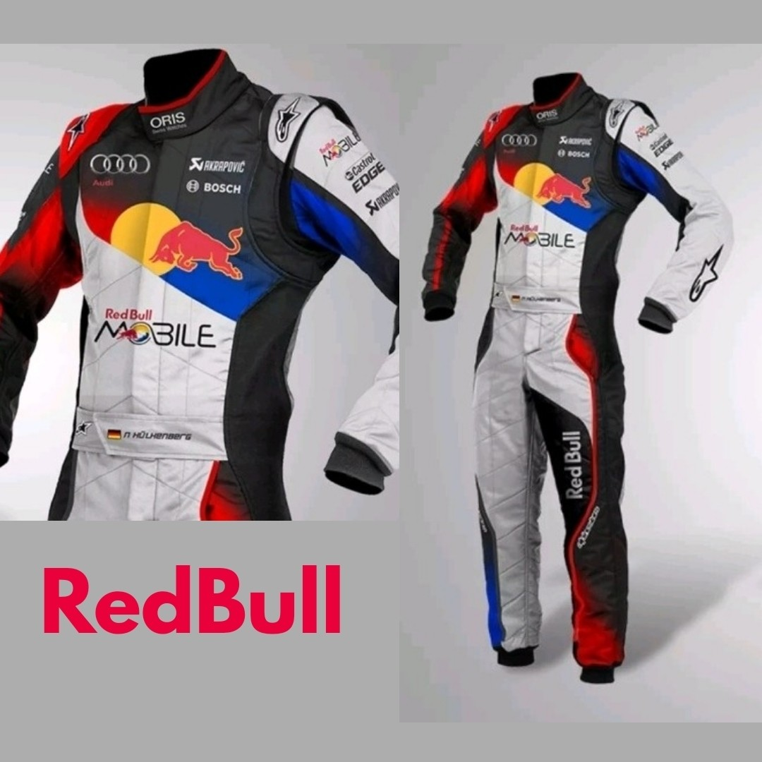 Red bull Go Kart Racing Suit Sublimation Printed