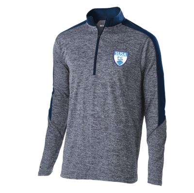 SUSA Shield Logo Holloway Electrify 1/2 Zip - Adult Sizing Only - Navy & Heather