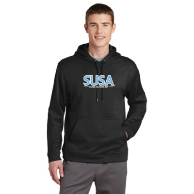 SUSA Sport-Tek Sport-Wick Fleece Hooded Pullover - Black - Adult Only