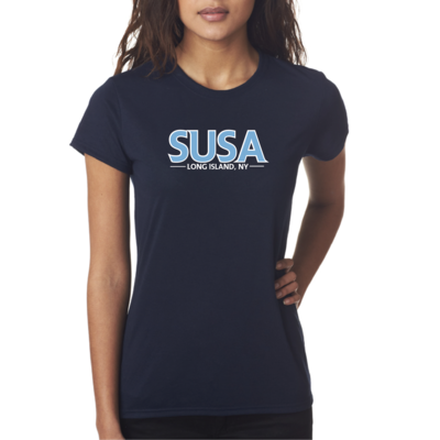 SUSA Heavy Cotton T-Shirt - Navy - Women's & Girls Styles