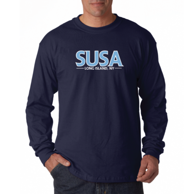 SUSA Heavy Cotton Long Sleeve Shirt - Navy - Men's & Youth