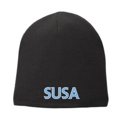 SUSA Port & Company Fleece-Lined Beanie Cap - Black